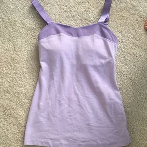 Lululemon heart purple yoga top